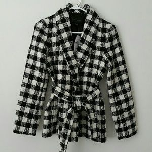 Black and White Ann Taylor Coat